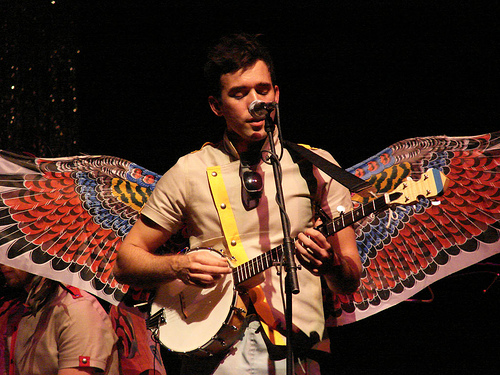 Sufjan performing in Chapel Hill, NC circa fall 2006 (photo: Sanders Hall)